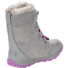 Sorel Kids Whitney Suede Boots Quarry/Raspberry